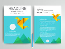 Calibres modernes de conception de brochure d'insectes de vecteur abstrait Image stock