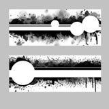 Calibres monochromatiques abstraits en noir et blanc illustration stock