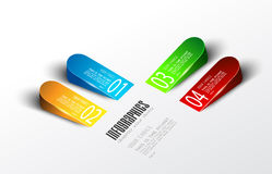 Calibres originaux d'Infographics de style Photos stock