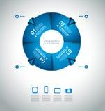 Calibres originaux d'Infographics de style Image stock