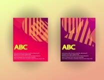 Calibres originaux de présentation L'ensemble d'affiches d'abrégé sur vecteur avec le gradient géométrique forme Photographie stock libre de droits