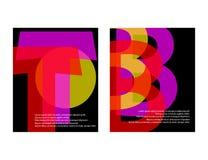 Calibres originaux de présentation L'ensemble d'affiches d'abrégé sur vecteur avec le gradient géométrique forme Image stock