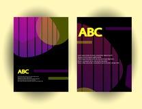 Calibres originaux de présentation L'ensemble d'affiches d'abrégé sur vecteur avec le gradient géométrique forme Photographie stock