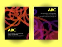 Calibres originaux de présentation L'ensemble d'affiches d'abrégé sur vecteur avec le gradient géométrique forme Photos libres de droits