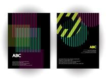 Calibres originaux de présentation L'ensemble d'affiches d'abrégé sur vecteur avec le gradient géométrique forme Images libres de droits