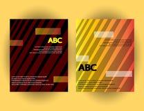 Calibres originaux de présentation L'ensemble d'affiches d'abrégé sur vecteur avec le gradient géométrique forme Images stock
