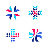 Calibres ou icônes médicaux ou de pharmacie de logo avec la croix illustration libre de droits
