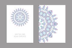 Calibres pour des cartes de visite professionnelle de salutation et de visite, brochures, couvertures Modèle oriental illustration stock