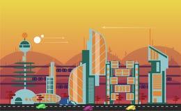 Calibres urbains occupés de paysage urbain Images stock