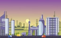 Calibres urbains occupés de paysage urbain Photo stock