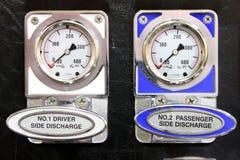 Calibri del camion dei vigili del fuoco Fotografia Stock