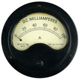 Calibro d'annata dell'amperometro immagini stock libere da diritti
