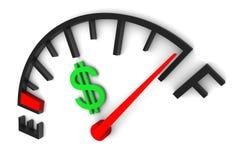 Calibro dei soldi pieno Immagini Stock Libere da Diritti