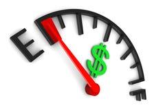 Calibro dei soldi vuoto Immagine Stock