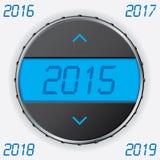 Calibro di automobile con testo 2015 Fotografie Stock