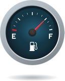 Calibro di combustibile che mostra carro armato pieno illustrazione vettoriale