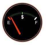 Calibro di combustibile dei soldi Immagini Stock Libere da Diritti