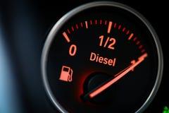 Calibro di combustibile - diesel fotografia stock