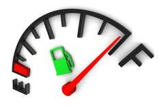 Calibro di combustibile pieno Immagini Stock Libere da Diritti