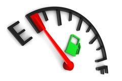 Calibro di combustibile vuoto Immagini Stock Libere da Diritti