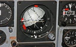 Calibro di indicatore di orizzonte sul pannello di controllo del aircrft Fotografia Stock Libera da Diritti