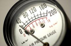Calibro di pressione d'aria Fotografie Stock