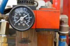 Calibro di pressione d'aria dell'automobile Immagini Stock