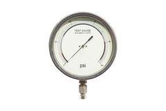 Calibro di prova di pressione Fotografia Stock