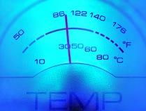 Calibro di temperatura Fotografia Stock Libera da Diritti