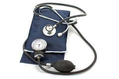 Calibro e stetoscopio di pressione sanguigna Fotografia Stock