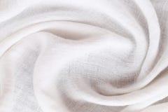 Calicò bianco increspato di tessuto di superficie fotografia stock libera da diritti