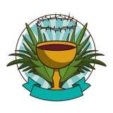 Calice catholique avec du vin illustration libre de droits