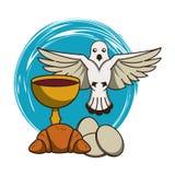 Calice cattolico con vino illustrazione di stock