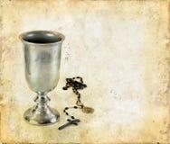 Calice da consacrazione e rosario di comunione Fotografia Stock
