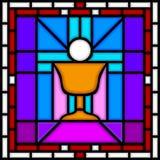 Calice da consacrazione [vetro macchiato] Fotografia Stock