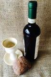 Calice del vino e del pane Fotografia Stock Libera da Diritti