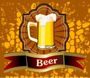 Calice di vetro con birra Fotografia Stock Libera da Diritti