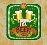 Calice di vetro con birra Fotografia Stock
