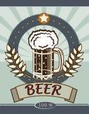 Calice di vetro con birra Immagine Stock Libera da Diritti