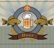 Calice di vetro con birra Immagini Stock