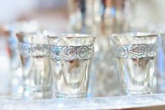 Calici d'argento Fotografia Stock