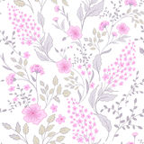 Calico delicate pink green colors pattern. Cute seamless cute small flowers for fabric design. Calico pattern in country royalty free illustration