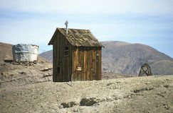 Calico Ghosttown - cabine royalty-vrije stock afbeelding