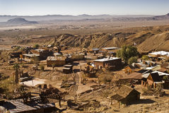 Calico Overview. This is a view from above of Calico, California, a ghost town and San Bernardino County Park Stock Photography