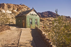 Calico's Historic Bottle House. This is the historic bottle house from Calico California, a ghost town and San Bernardino County Park.  The house was constructed Royalty Free Stock Photography