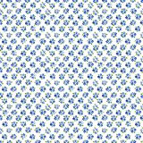Calico watercolor forget me not pattern. Royalty Free Stock Photo