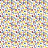 Calico watercolor forget me not pattern. Royalty Free Stock Image
