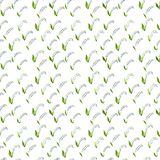Calico watercolor lily of the valley pattern. Ravishing seamless cute small flowers for fabric design. Calico pattern in country stile. Trendy handpainted Stock Photo