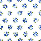 Calico watercolor pattern. Royalty Free Stock Photography