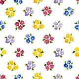 Calico watercolor pattern. Stock Photography